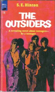 Original paperback cover for THE OUTSIDERS by S.E. Hinton
