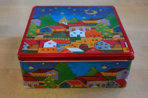 a brightly colored box